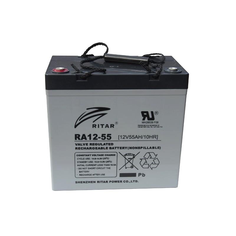 RITAR RA12-55 12V 55Ah AGM VRLA akumuliatorius