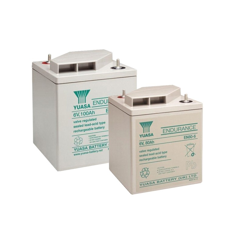 YUASA EN/ENL serijos 6V AGM VRLA akumuliatoriai