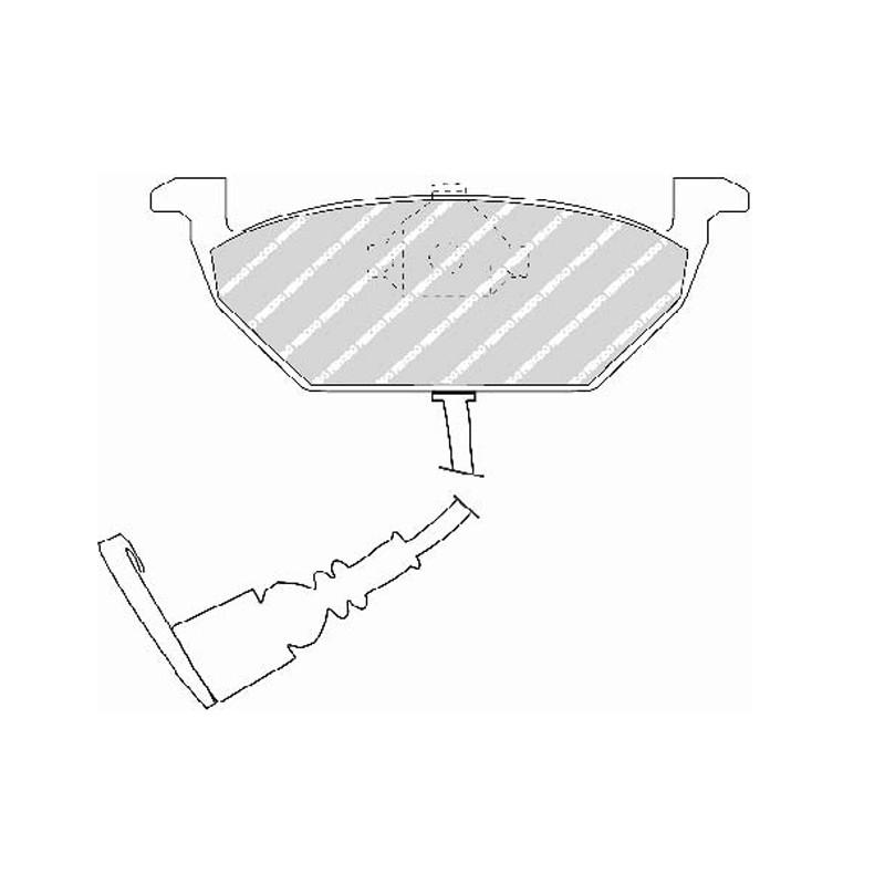 Disk brake pads EGT 321721