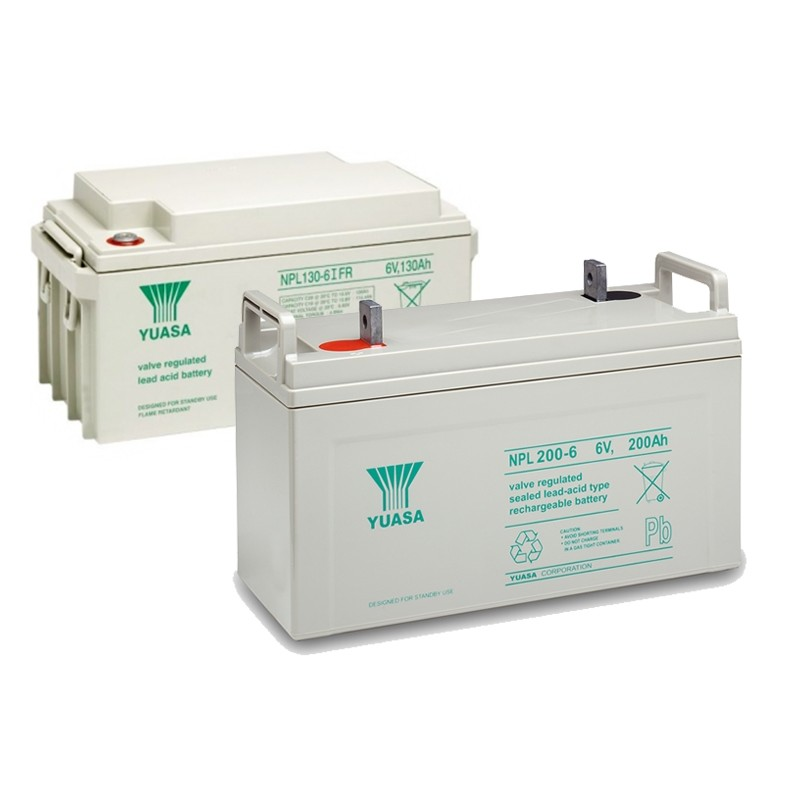 YUASA NPL series 6V AGM VRLA batteries