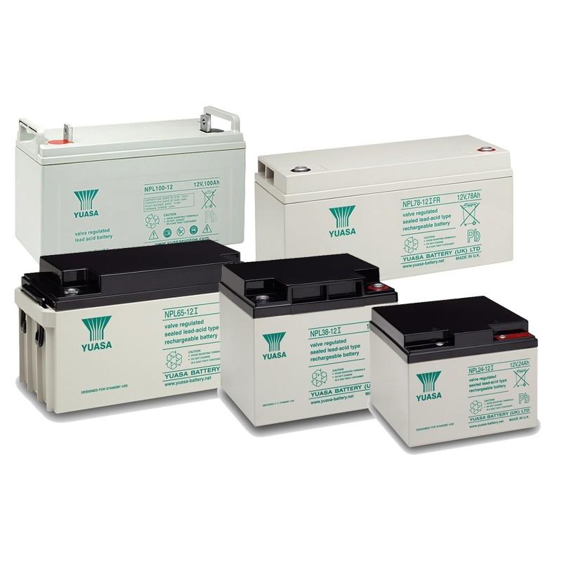 YUASA NPL series 12V AGM VRLA batteries