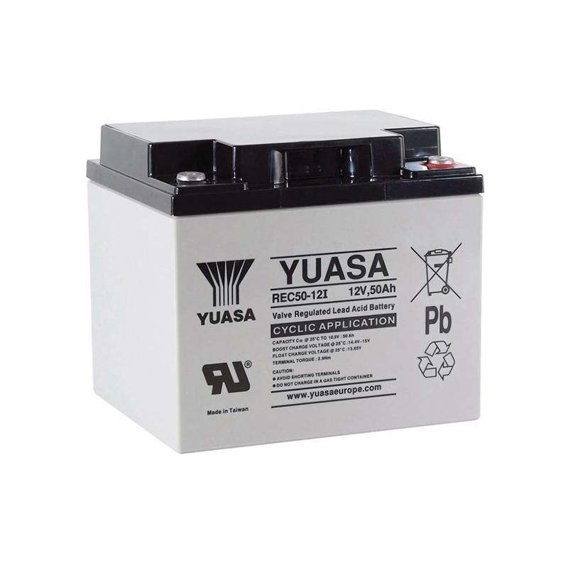 YUASA REC50-12 12V 50Ah AGM VRLA akumuliatorius