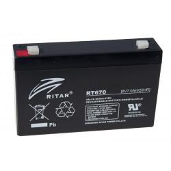 RITAR RT670 6V 7Ah AGM VRLA akumuliatorius