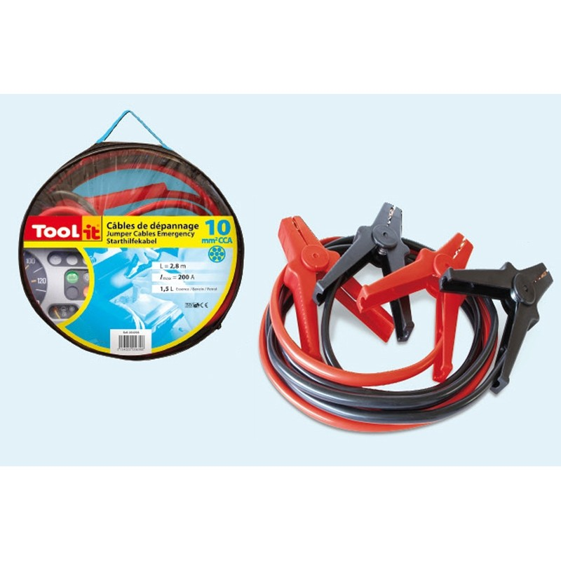 Jumper cables consumer (200A - 1.5ltr/10mm²-2.8m)