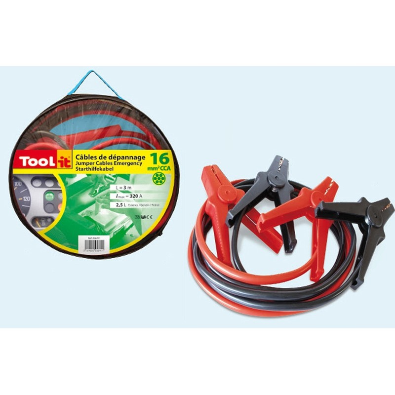 Užvedimo laidai Tool-it (320A - 2.5ltr/16mm²-3.0m)