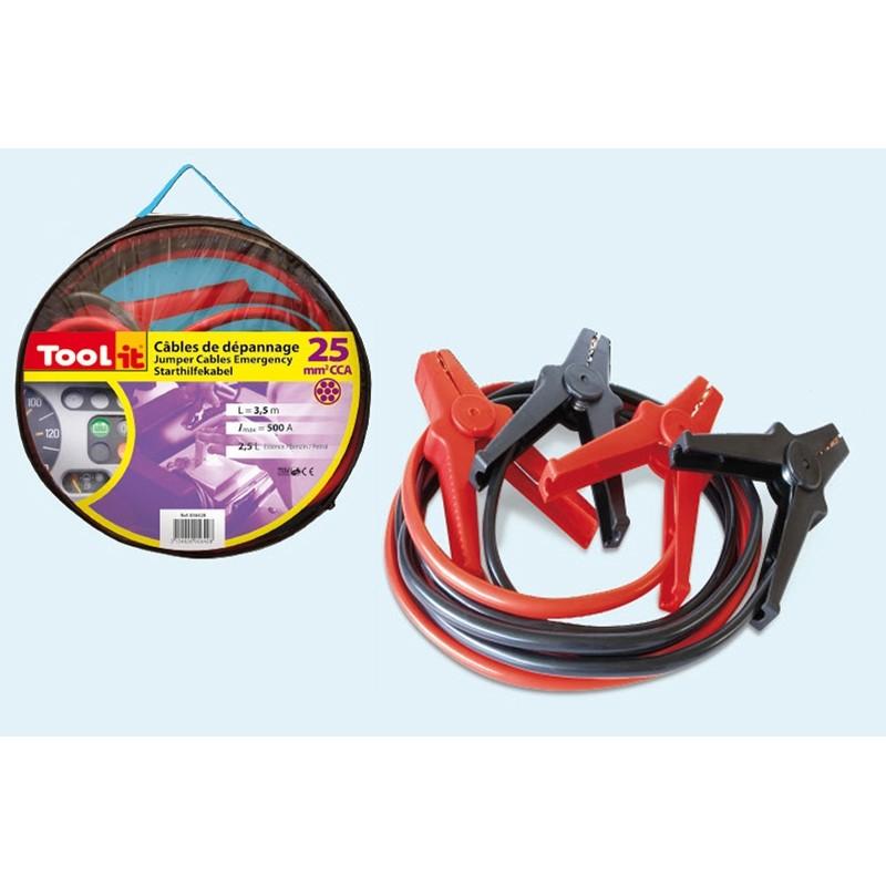 Jumper cables consumer Tool-it (500A - 3.5ltr/25mm²-3.5m)
