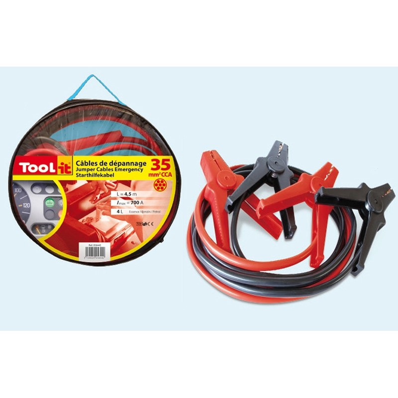 Jumper cables consumer Tool-it (700A - 4.5ltr/35mm²-4.5m)