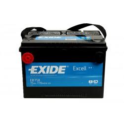 EXIDE EB758 75Ah battery