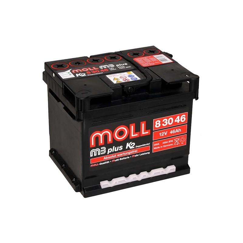 MOLL M3 Plus K2 83046 46Ah 420A akumuliatorius