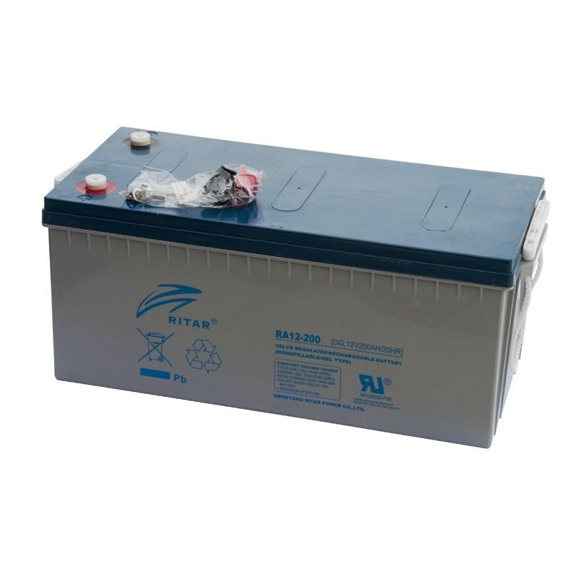 RITAR DG12-200 12V 200Ah GEL VRLA akumuliatorius
