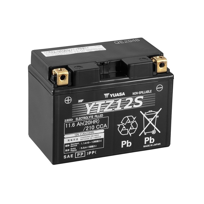 YUASA YTZ12S 11.6Ah (C20) battery