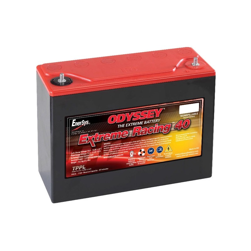 ODYSSEY Extreme 40 (PC1100) AGM 45Ah battery