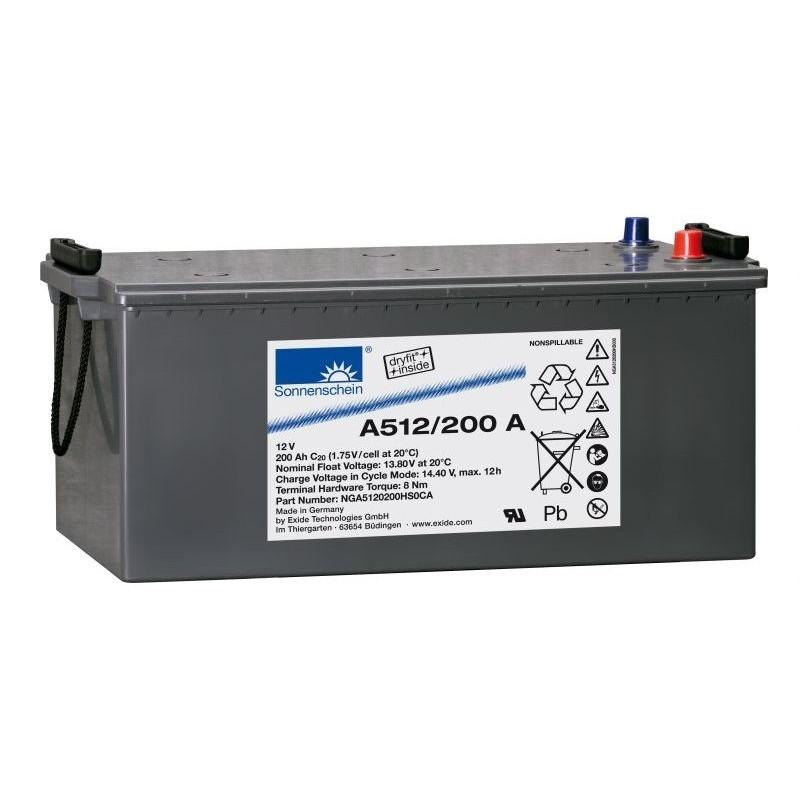 Sonnenschein (Exide) A512/200A 200Ah akumuliatorius