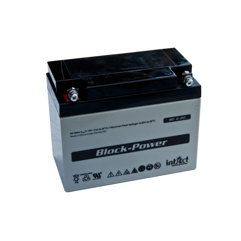 IntAct BP6-20 6V 20Ah AGM VRLA battery