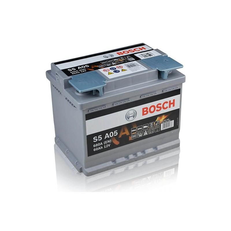 BOSCH S5 A05 (560901068) 60Ah AGM akumuliatorius