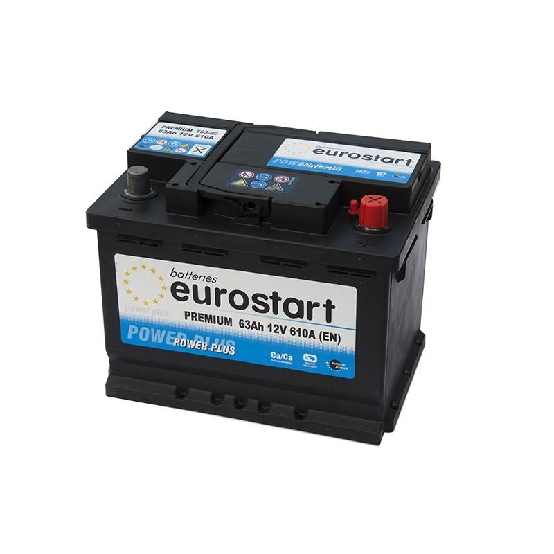 EUROSTART PREMIUM 56340 (563400061) 63Ah akumuliatorius