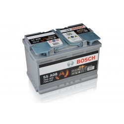 BOSCH S5 A08 (57090107) 70Ah AGM battery