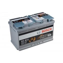 BOSCH S6011 (580901080) 80Ah AGM akumuliatorius