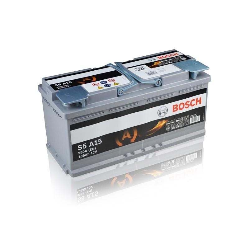 BOSCH S5 A15 (605901095) 105Ah AGM akumuliatorius