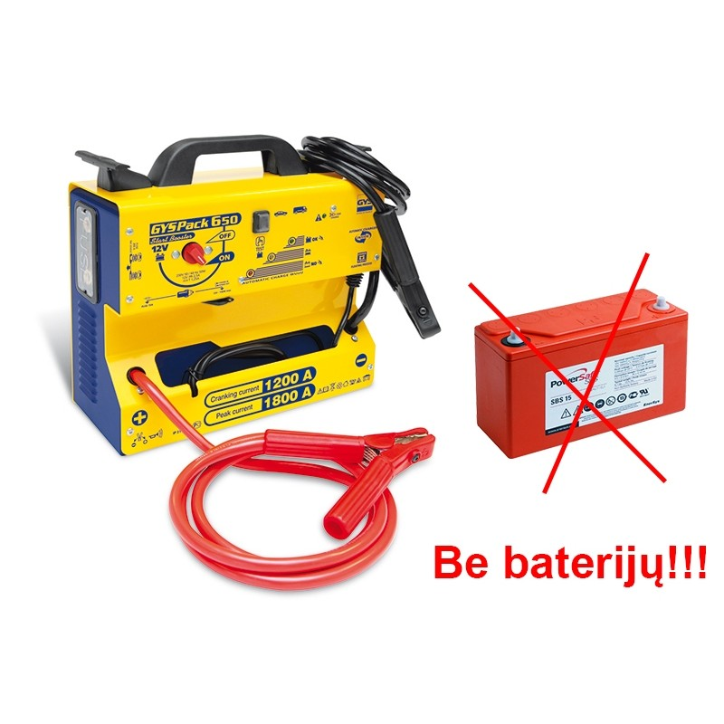 Professional booster GYSPACK-650 (without battery)