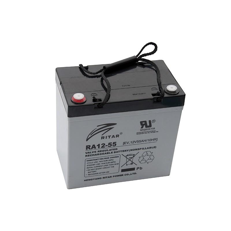 RITAR EV12-55 12V 55Ah AGM VRLA battery