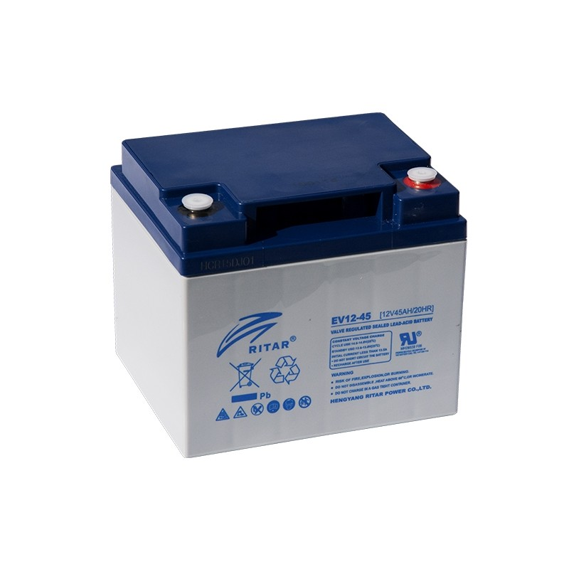RITAR EV12-45 12V 45Ah AGM VRLA battery