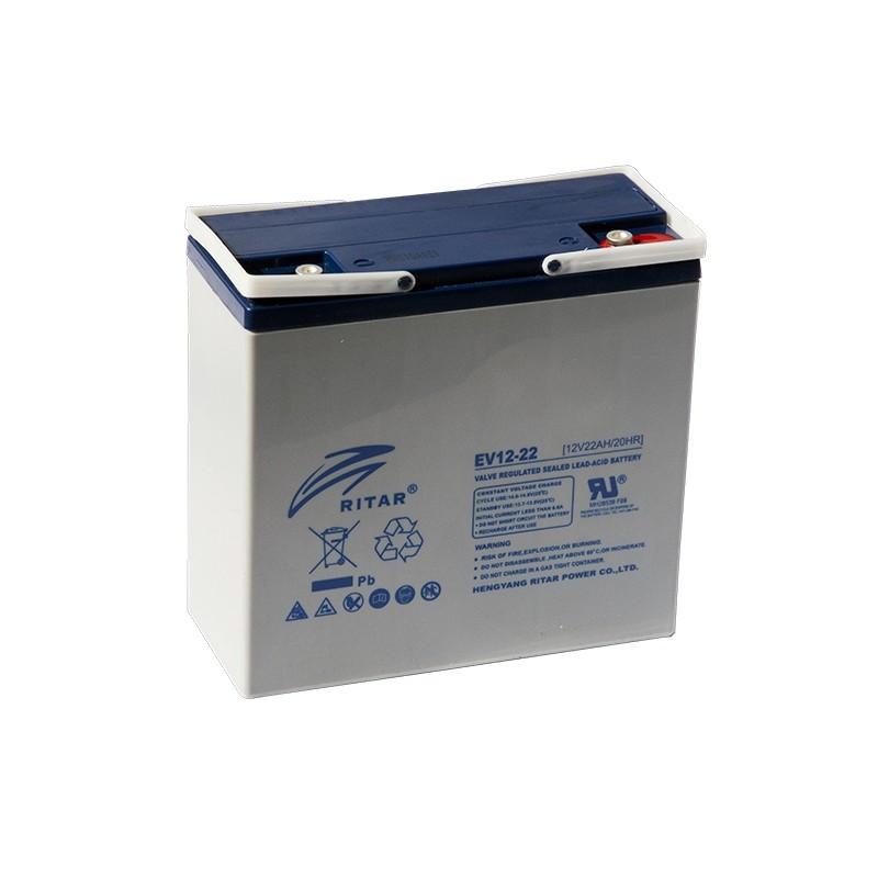 RITAR EV12-22 12V 22Ah AGM VRLA battery