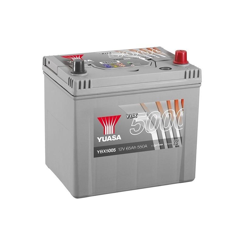 YUASA YBX5005 Silver 65Ah 550A akumuliatorius