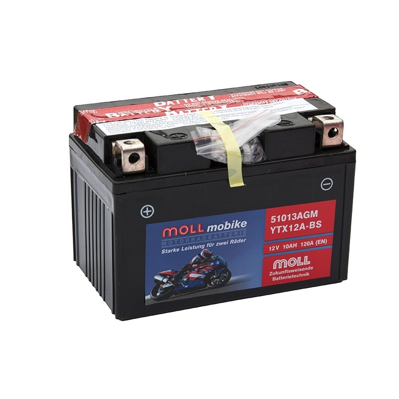 MOLL 51013 AGM (YTX12A-BS) 10Ah battery