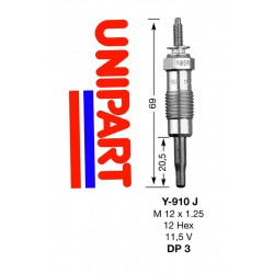 Pakaitinimo žvakė Unipart GGP 8