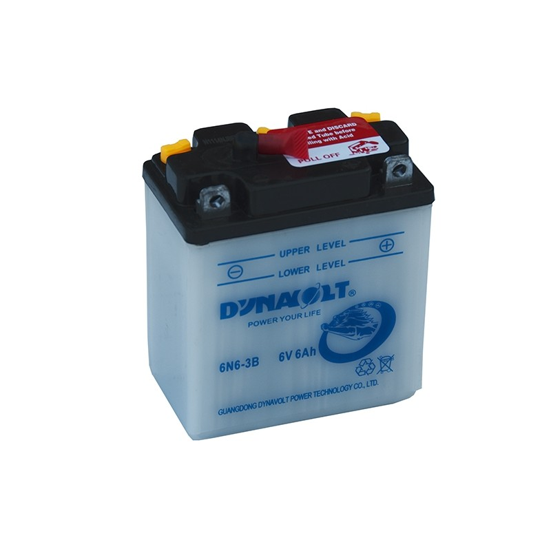 DYNAVOLT 6N6-3B (00611) 6Ач аккумулятор