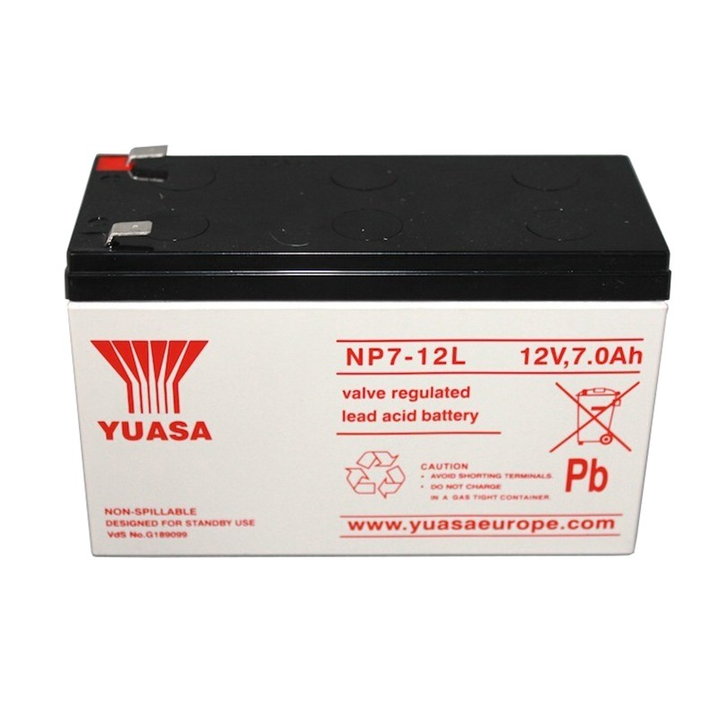 YUASA NP7-12L 12V 7Ah AGM VRLA battery