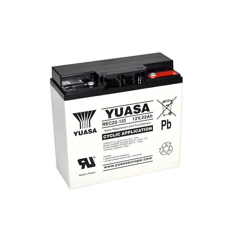 YUASA REC22-12 12V 22Ah AGM VRLA akumuliatorius