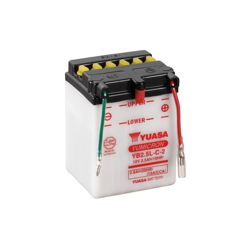 YUASA YB2.5L-C-2 2.6Ah (C20) battery