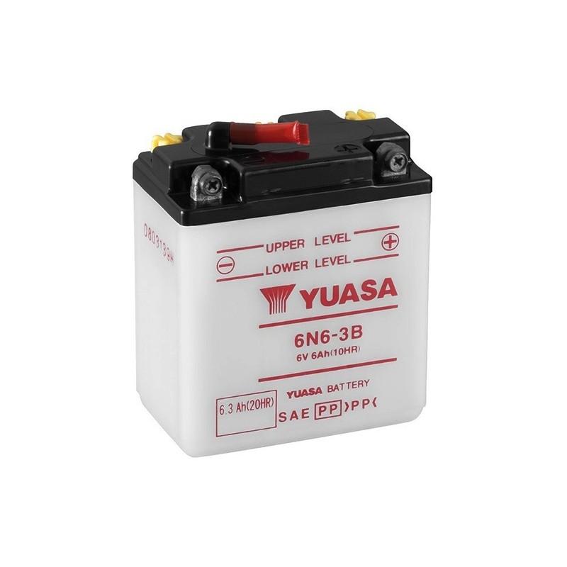 YUASA 6N6-3B (00611) 6.3Ah (C20) akumuliatorius
