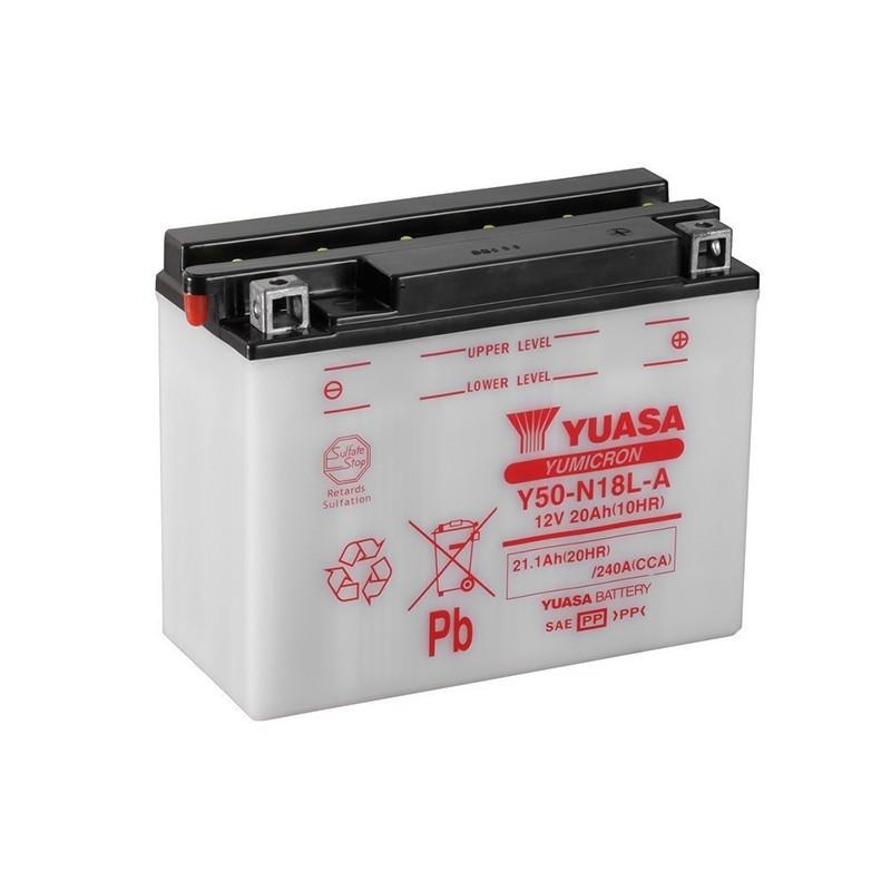 YUASA Y50-N18L-A (52012) 21.1Ah (C20) akumuliatorius