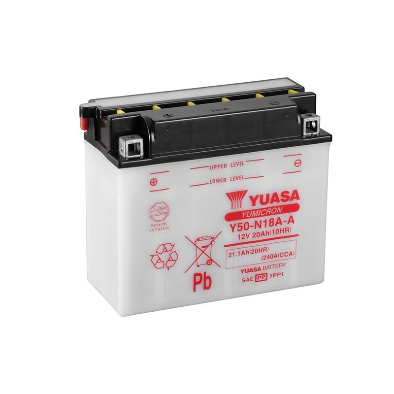 YUASA Y50-N18A-A 21.1Ah (C20) akumuliatorius