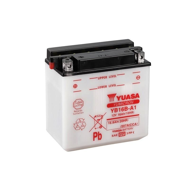 YUASA YB16B-A1 16.8Ah (C20) akumuliatorius