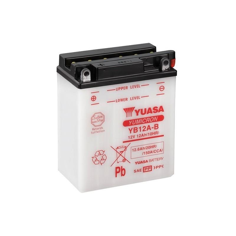 YUASA YB12A-B (51215) 12.6Ah (C20) battery