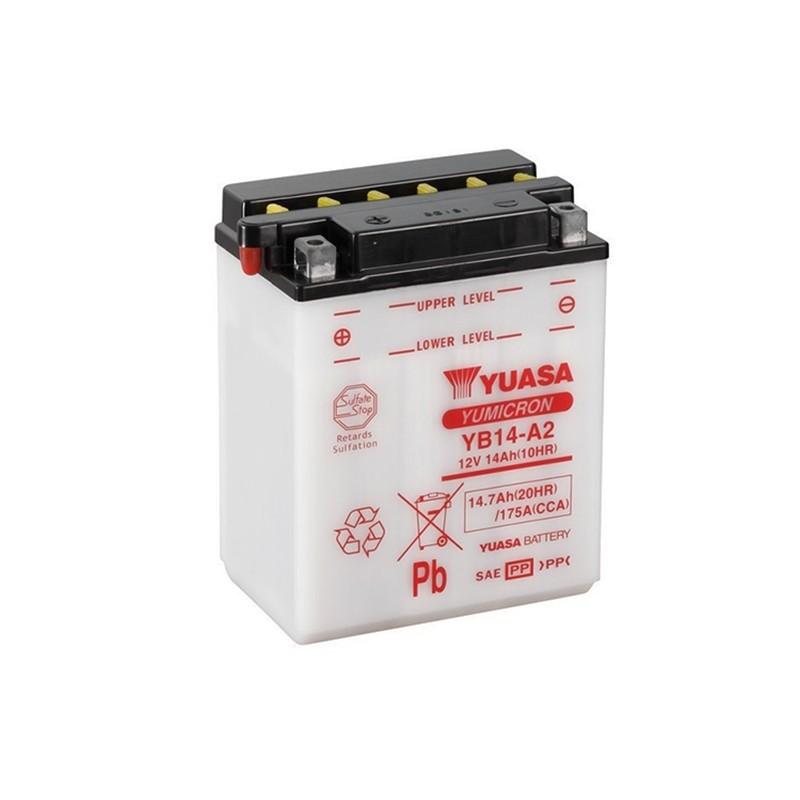 YUASA YB14-A2 (51412) 14.7Ah (C20) battery