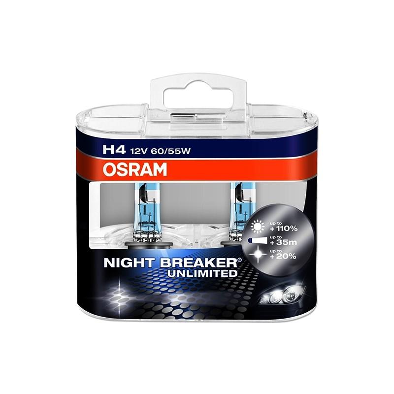 Lemputė OSRAM H4 64193NBU-HCB Night breaker ultimate (2 vnt.)