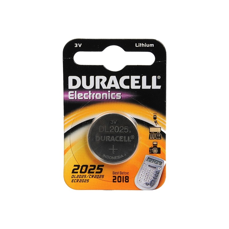 DURACELL CR2025 ELECTRONICS battery for remote control