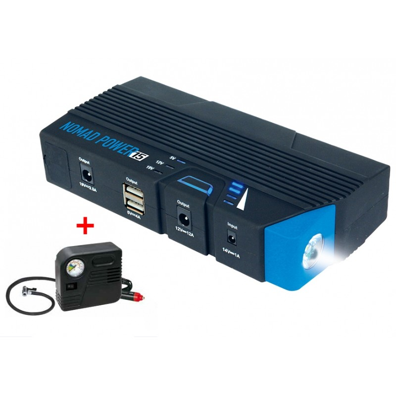 Lithium booster NOMAD POWER 15 + air compressor
