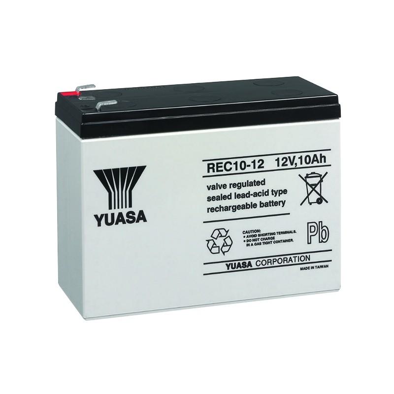 YUASA REC10-12 12V 10Ah AGM VRLA battery