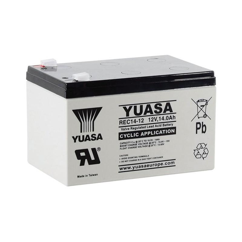 YUASA REC14-12 12V 14Ah AGM VRLA battery