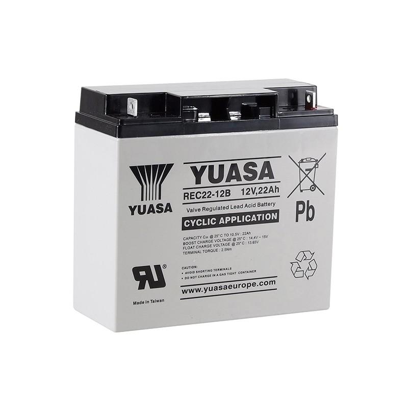 YUASA REC22-12B 12В 22Ач AGM VRLA аккумулятор