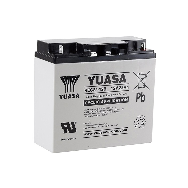 YUASA REC22-12B 12V 22Ah AGM VRLA battery