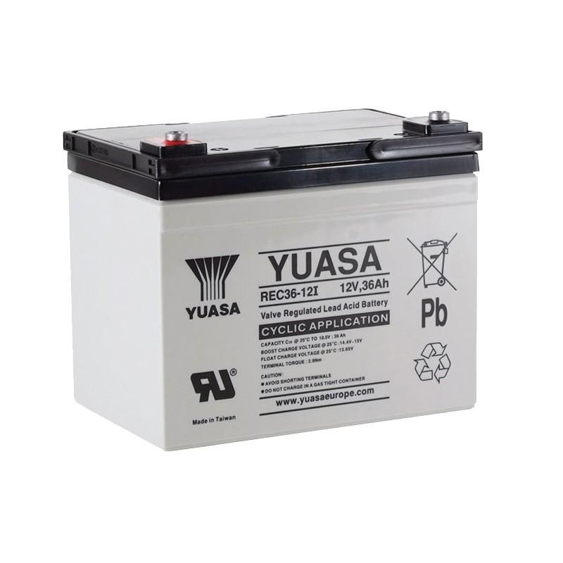 YUASA REC36-12 12V 36Ah AGM VRLA battery