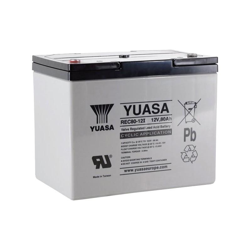 YUASA REC80-12 12V 80Ah AGM VRLA battery