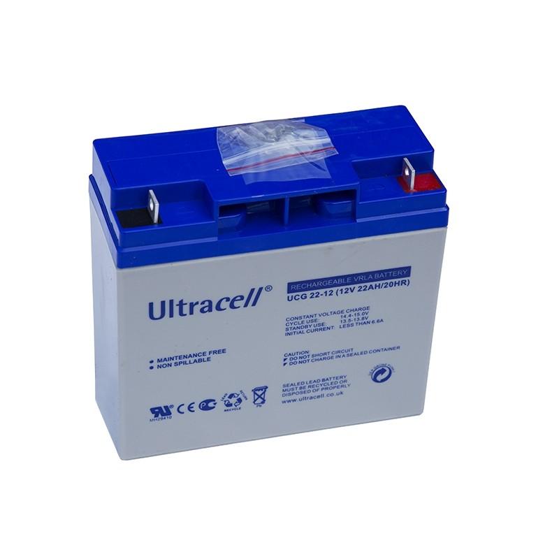 ULTRACELL 12V 22Ah GEL VRLA battery